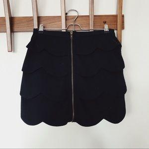 BB DAKOTA tiered zipper mini skirt